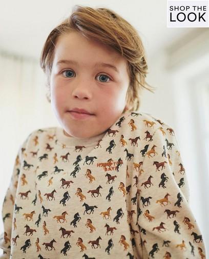 Comfortabele sweater met opvallende print